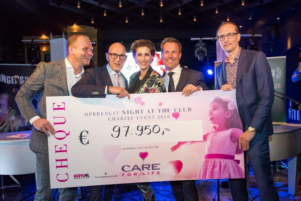 Prachtige opbrengst voor CARE FOR LIFE dankzij charity event NIGHT AT THE CLUB